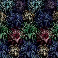 Seamless fireworks background vector pattern