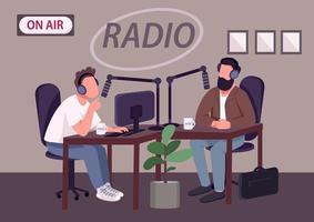 Radio talk show show vector
