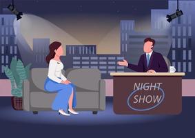 Night show interview vector