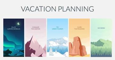 plantilla de infografía informativa de vacaciones vector