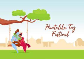 Hartalika teej festival poster