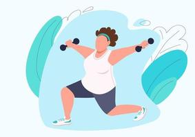 Lady doing pilates vector