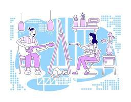 Creative hobbies scene vector