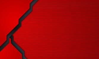 Abstract red and black layered background vector