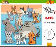 How many cats educational task for kids