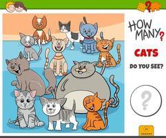 cuántos gatos tarea educativa para niños vector