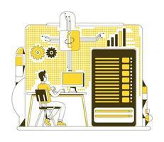 estilo de línea fina del centro de datos