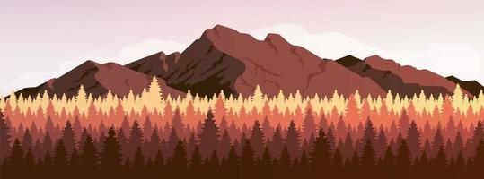 Mountain and coniferous forest