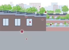 City quarantine from covid vector