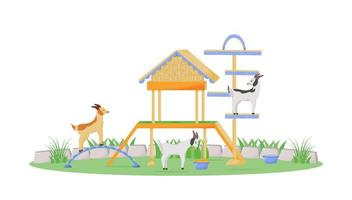 Goat in playhouse vector