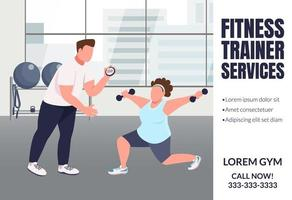 Fitness trainer services banner vector