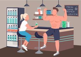 Fitness smoothie store vector