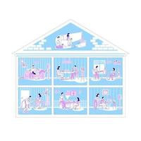 Family activities in apartments vector