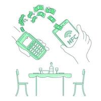 Mobile wallet e-commerce vector