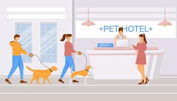 Pet hotel hall vector
