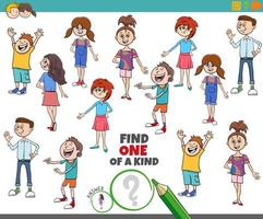 One of a kind game for children with kids and teens