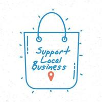 Support local business campaign with shopping bag