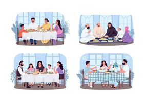 Traditional family dinners vector