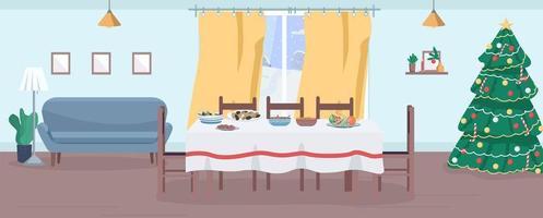 Festive dinner scene vector