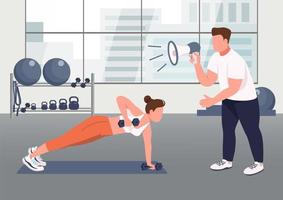 Fitness instructor service vector