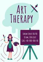 Art therapy poster vector