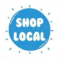 Shop local campaign lettering