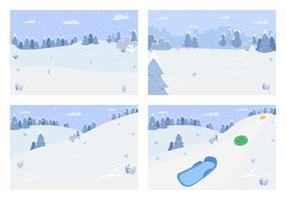 paisaje de nieve de invierno