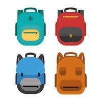 conjunto de iconos de mochila vector