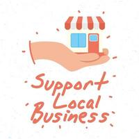 Apoyar la campaña comercial local con la construcción de tiendas.