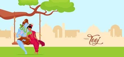 shiva y parvati balanceándose