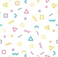 memphis pastel pattern seamless vector