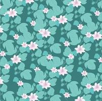 Passion flower pattern background vector