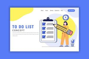 Flat Design Concept of To Do List