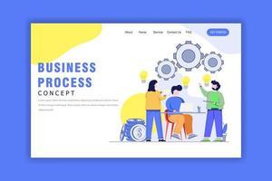 Flat Design Concept Of Business Process vector
