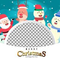 Merry Christmas Background with Cute Cute Santa vector