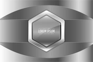 Fondo metálico plateado y gris de lujo.
