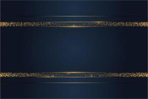Luxury blue and gold metallic background vector
