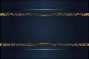 Fondo metálico de lujo azul y dorado.