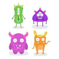 Bundle Of Monster Character Design Mascot vector