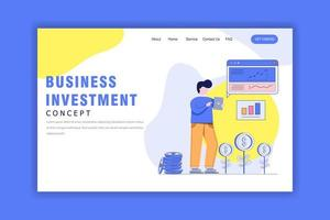 Flat Design Concept of Business Investment vector