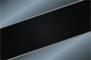 Fondo metálico plateado, azul y negro de lujo. vector