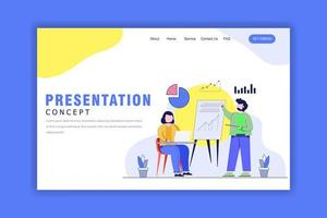 Flat Design Concept of Presentation vector