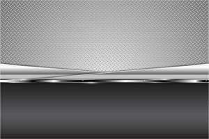 mmodern fondo metálico plateado vector