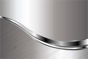Fondo metálico gris y plateado moderno vector