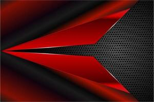 Modern red and black metallic background vector