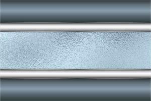 Fondo metálico azul y plateado moderno vector