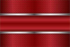 Fondo metálico rojo y plateado moderno