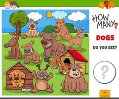 How many dogs educational task for kids