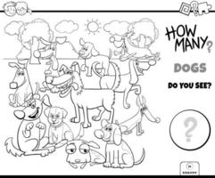 Counting dogs educational game color book