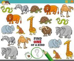juego único para niños con animales vector